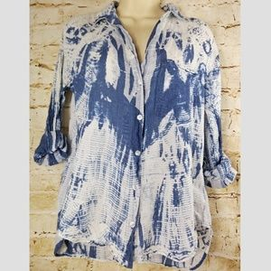 Cloth and Stone Washed Blue White Button Shirt S